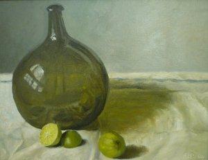 Anna B. McCoy, Lime Rickey, oil on linen, 14 x 18 inches