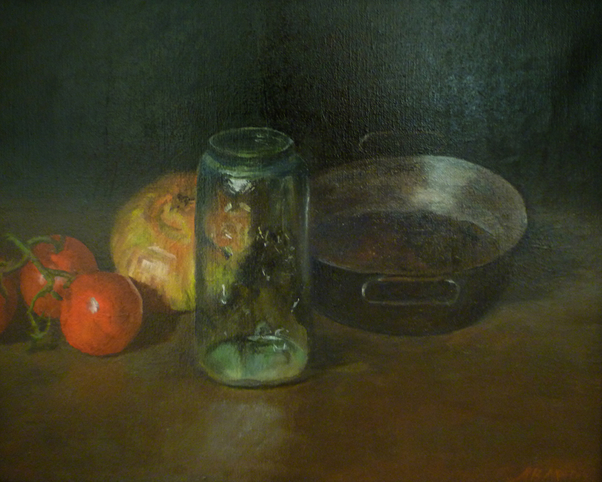 Anna B. McCoy, Pickle Jar, oil on linen, 16 x 20 inches