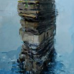 Alex Kanevsky, Downpatrick Head, 2011, oil on wood, 24 x 16 inches
