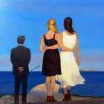 Bo Bartlett, An Incident at Sea (SOLD), 2014, Oil on linen, 30 x 30 inches