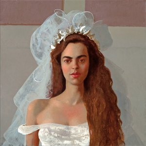 Bo Bartlett, La Pequena Novia, oil on board, 24 x 24 inches
