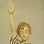 Bo Bartlett, Study for Pledge of Allegiance (SOLD), 2006, Oil on panel, 24 x 24 inches