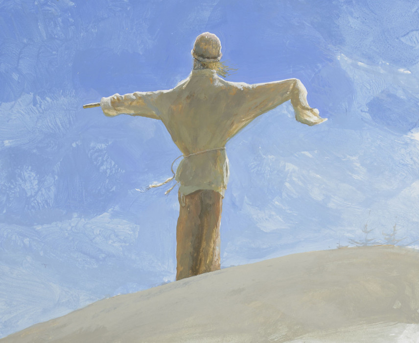 Bo Bartlett, The Orator, 2006, gouache on paper, 12 1/4 x 15 1/2 inches