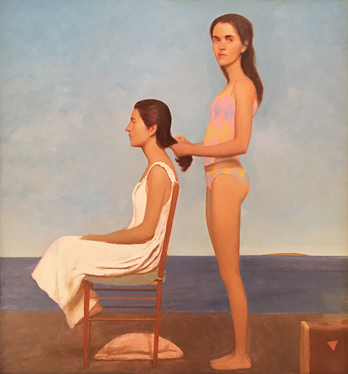 Bo Bartlett, The Present, 2003, Oil on linen, 39 1/4 x 37 inches