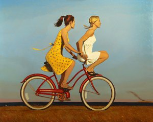 Bo Bartlett, The Day Everything Changed Forever, 2016, oil on canvas, 48 x 60 inches