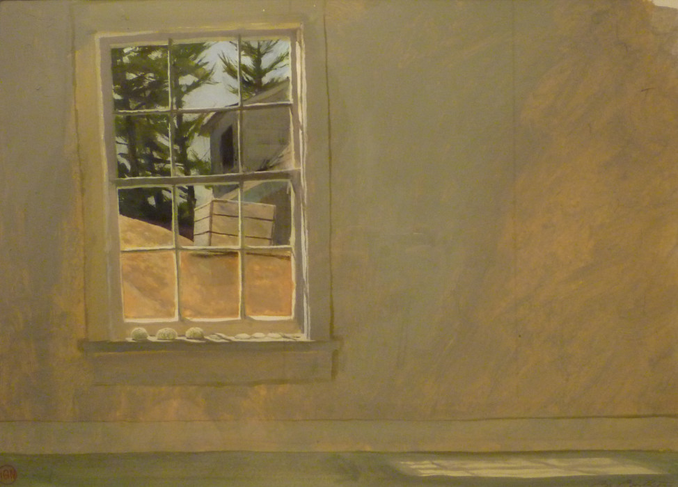 Bo Bartlett, Wheaton Light, gouache on paper, 14 1/2 x 20 inches