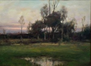 Dennis Sheehan, Edge of the Grove, oil on canvas, 14 x 18 inches