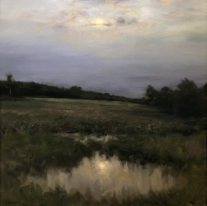 Dennis Sheehan, New Horizon, Oil on canvas, 30 x 30 inches