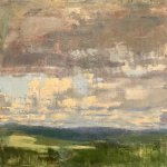 Jon Redmond, Clouds North, 2016, oil on board, 10 x 10 inches