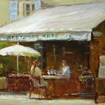 Jim Rodgers, Morning in Mougins, 2016, oil on board, 12 x 16 inches