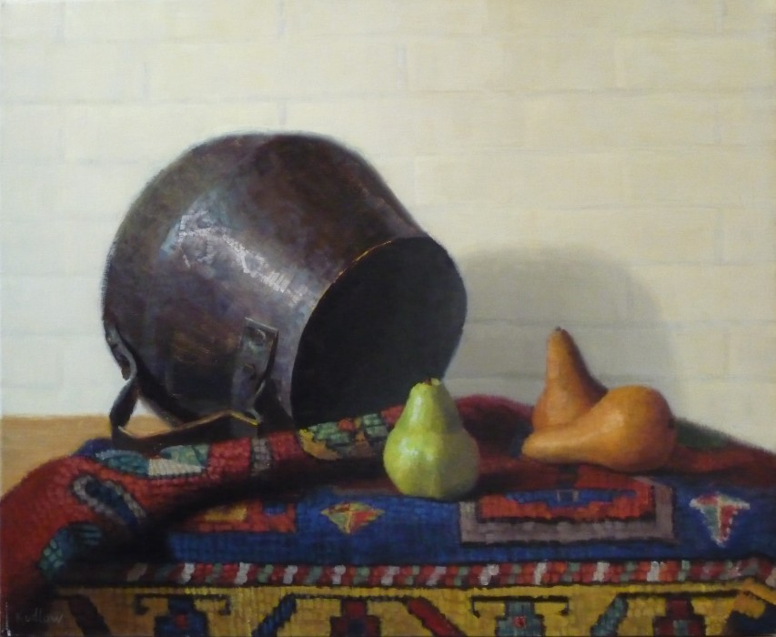Judith Pond Kudlow, Copper Pot, 2012, oil on canvas, 18 x 22 inches