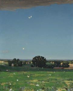 Michael Allen, Balance, 2019, Oil on linen, 60 ½ x 48 ½ inches