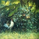 Michael Doyle, When the Cock Crows, 2020, Oil on canvas, 40 x 40 inches