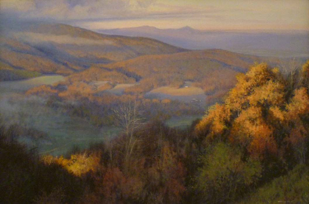 Michael Godfrey, Early Morning from the Ridge, 2012, oil on canvas, 24 x 36 inches