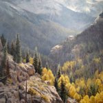 Michael Godfrey, Gold in Colorado, oil on canvas, 36 x 24 inches