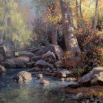 Michael Godfrey, October Colors, oil on panel, 16 x 12 inches