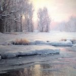 Michael Godfrey, Song of Winter, oil on canvas, 18 x 26 inches