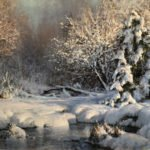 Michael Godfrey, Winter Lace, Oil on canvas, 18 x 24 inches