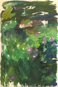 Mary Page Evans, L'Etang III, 1987, Oil on paper, 47 x 31 ¼ inches