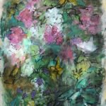 Mary Page Evans, Ode to Missy, Mixed media on paper, 29 ¼ x 20 ¾ inches