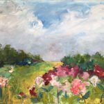 Mary Page Evans, Peonies in June II, 2020, Oil on linen, 30 x 40 inches