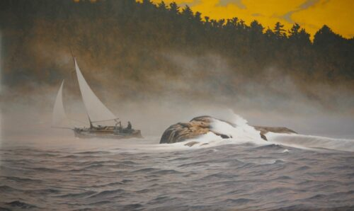 Peter Sculthorpe, Inside Passage (SOLD), 2021, Oil on linen, 30 x 50 inches