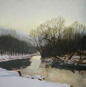 Peter Sculthorpe, Rockland Bend (SOLD), 2021, Oil on panel, 8 x 8 inches