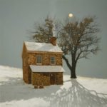 Peter Sculthorpe, Sequestered (SOLD), 2020, Oil on linen, 20 x 20 inches