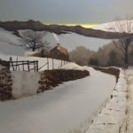 Peter Sculthorpe, Snow in Hill Country, 2020, Oil on linen, 32 x 40 inches