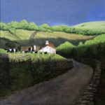 Peter Sculthorpe, Sunset in the Hills, 2020, Oil on panel, 12 x 12 inches