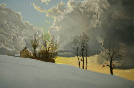 Peter Sculthorpe, The Westerlies (SOLD), 2020, Oil on linen, 20 x 30 inches
