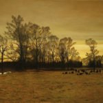 Peter Sculthorpe, Twilight, Oil on linen, 20 x 30 inches