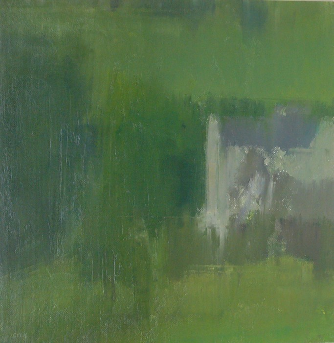 Stuart Shils, The Flay Mill at the Bottom of Town - Bally Castle, oil on mounted linen, 16 1/4 x 16 inches
