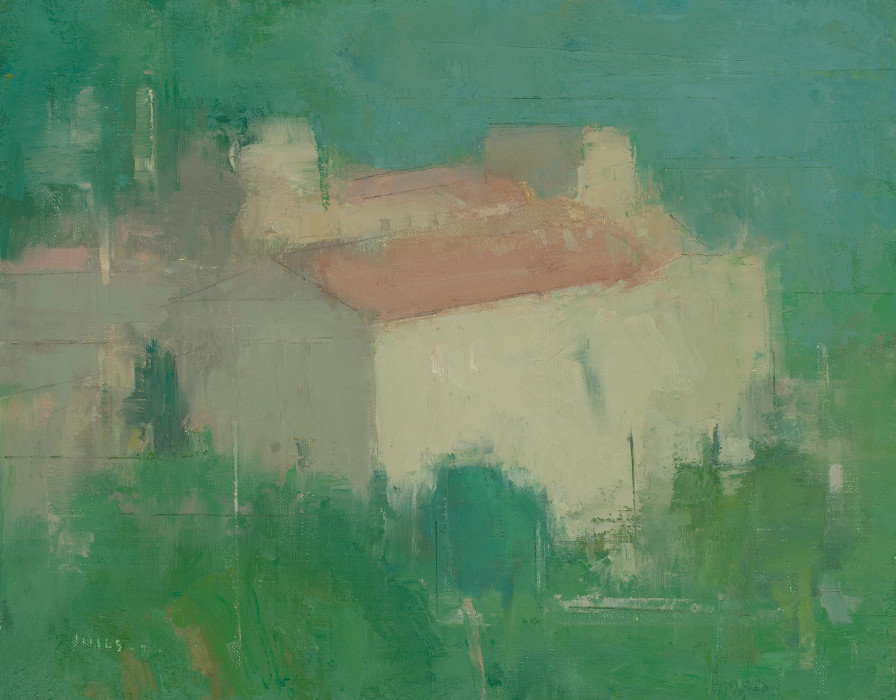 Stuart Shils, Villa in the Distance, 2008, oil on mounted linen, 10 x 13 inches