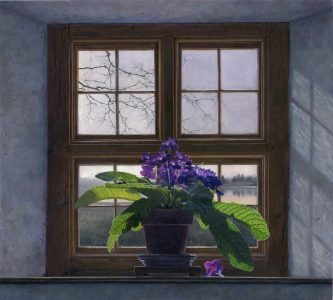 Timothy Barr, Cape Primrose, 2021, Oil on panel, 27 x 30 inches