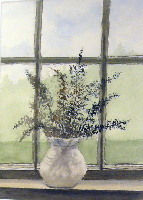 Ann Wyeth McCoy, Afternoon Light, 2001, watercolor, 20 x 15 inches