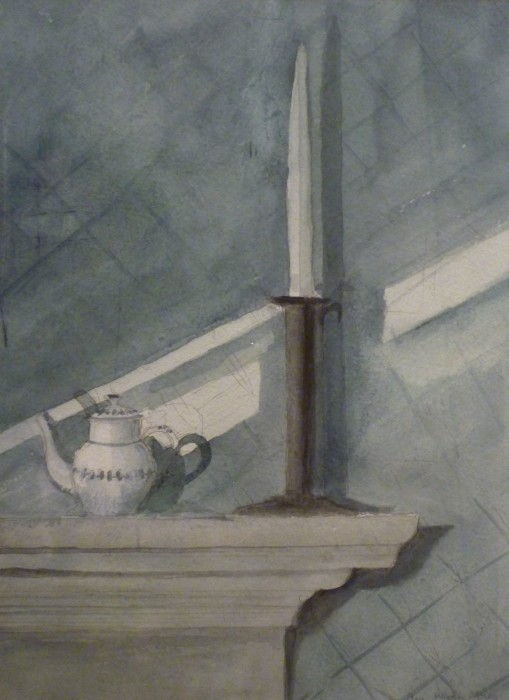 Ann Wyeth McCoy, Late Afternoon, 1998, watercolor, 14 1/2 x 10 1/2 inches