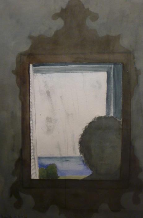 Ann Wyeth McCoy, Reflection (Self Portrait), watercolor, 20 x 14 inches