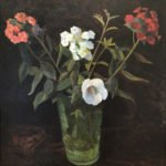 Carolyn Wyeth, Untitled (Flowers in Green Vase), pre-1939, oil on canvas, 30 1/8 x 28 1/8 inches