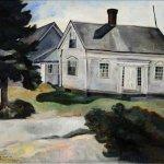 Carolyn Wyeth, The Jones House, c. 1937, oil on canvas, 26 x 31 1/2 inches
