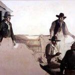 Frank E. Schoonover (1877 - 1972), Howdy Men, 1925, Oil on canvas, 28 x 37 inches