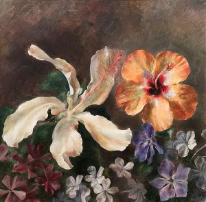 Henriette Wyeth (1907-1997), Floral Still Life, Oil on canvas, 16 x 16 inches