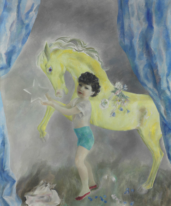 Henriette Wyeth, Yellow Pony, 1938, oil on canvas, 72 x 60 inches