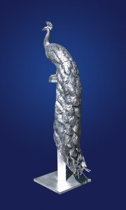 Rikki Morley Saunders, Alexander, cast aluminum, 74 x 23 x 17 inches, Edition of 9