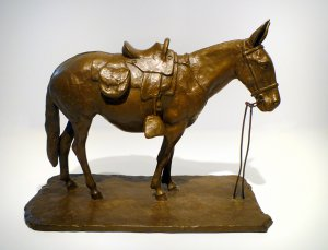 J. Clayton Bright, Crackshot, bronze, 11 1/2 x 4 1/2 x 9 inches, edition of 15