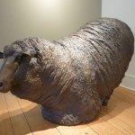 J. Clayton Bright, Sheep (Kneeling), bronze, 48 x 36 x 24 inches
