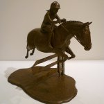 J. Clayton Bright, Woody, bronze, 12 1/2 x 10 x 7 inches, edition of 10