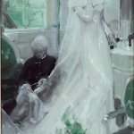 Mead Schaeffer, Bride, oil on illustration board, 11 1/4 x 6 3/4 inches