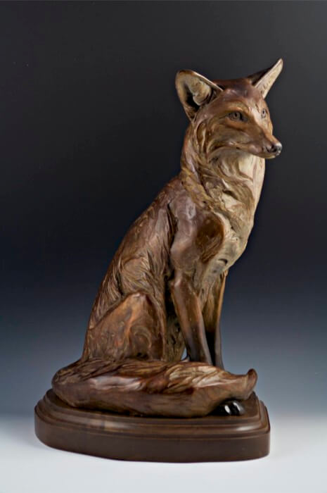 Margery Torrey, Sitting Pretty, bronze, 21 x 11 x 15 inches, edition of 25