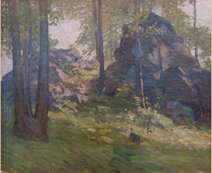 N.C. Wyeth, Boulders, c. 1911/1912, oil on canvas, 25 x 30 inches